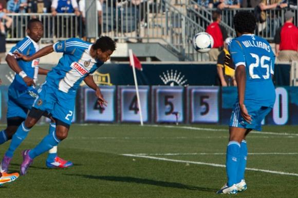 Lionard Pajoy Heads Goal - Union vs Rapids