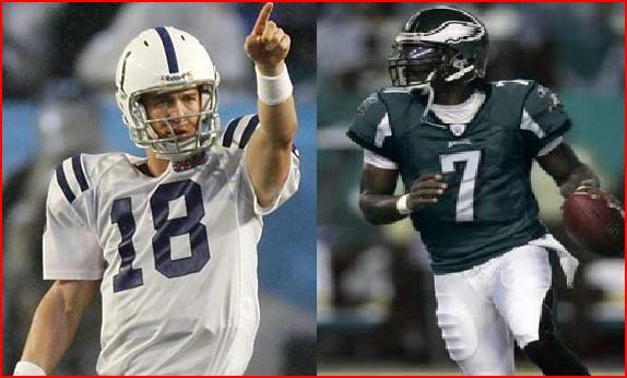 Peyton Manning and Michael Vick