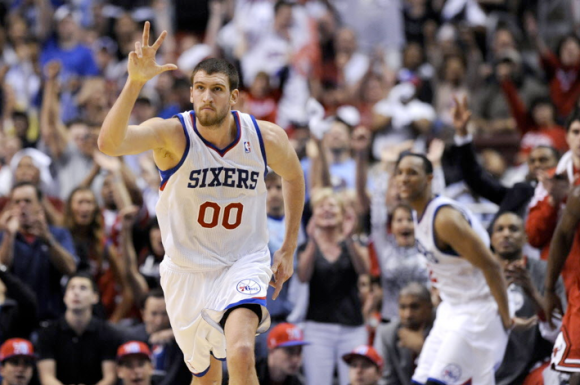 Spencer Hawes Celebrating