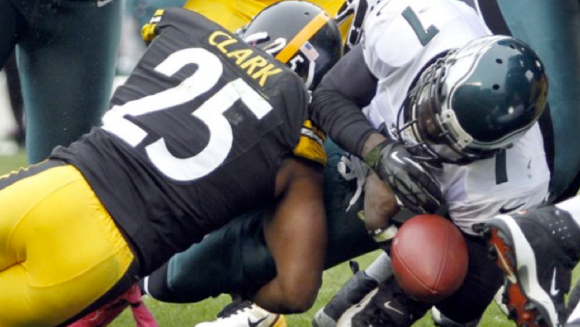 Michael Vick Fumble vs Steelers