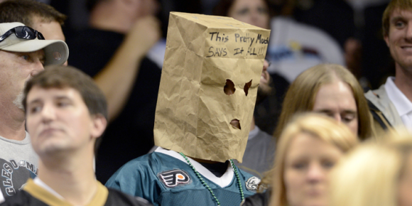 Eagles Fan With Paper Bag