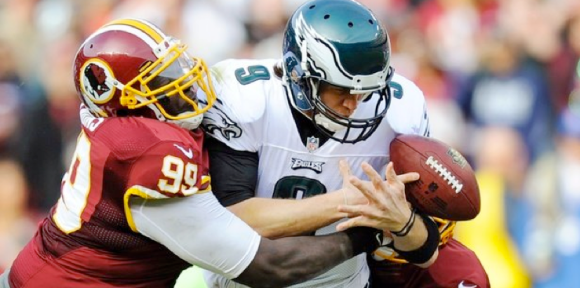 Foles Fumble vs Redskins