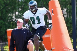 2012 first round pick Fletcher Cox will look to continue the promising form he showed last season.