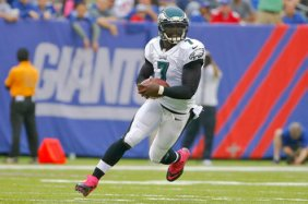 Michael Vick had the ground game going, but the passing game was lacking.