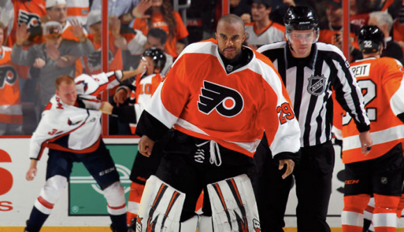 Ray Emery fight Brayden Holtby
